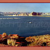 Lake Powell houseboat pier near Page, Arizona - be sure to look at this in it's original size! Only then can you see the  houseboats.
