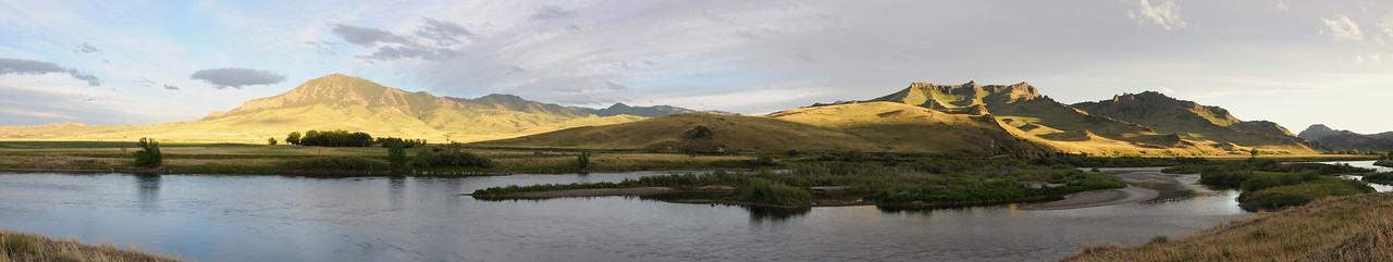 Missouri River Panoramic by Pelican Point fishing access - Jim R Harris Photography Montana