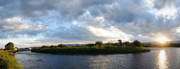 Panoramic view of the Madison River Montana near Valley Garden fishing access, Ennis Montana Photography by Jim R Harris