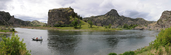 Missouri River Panoramic by Mountain Palace - Jim R Harris Photography