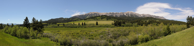 Bridger Mountain Range Panoramic of the East side. Jim R Harris Photography - Bozeman Montana