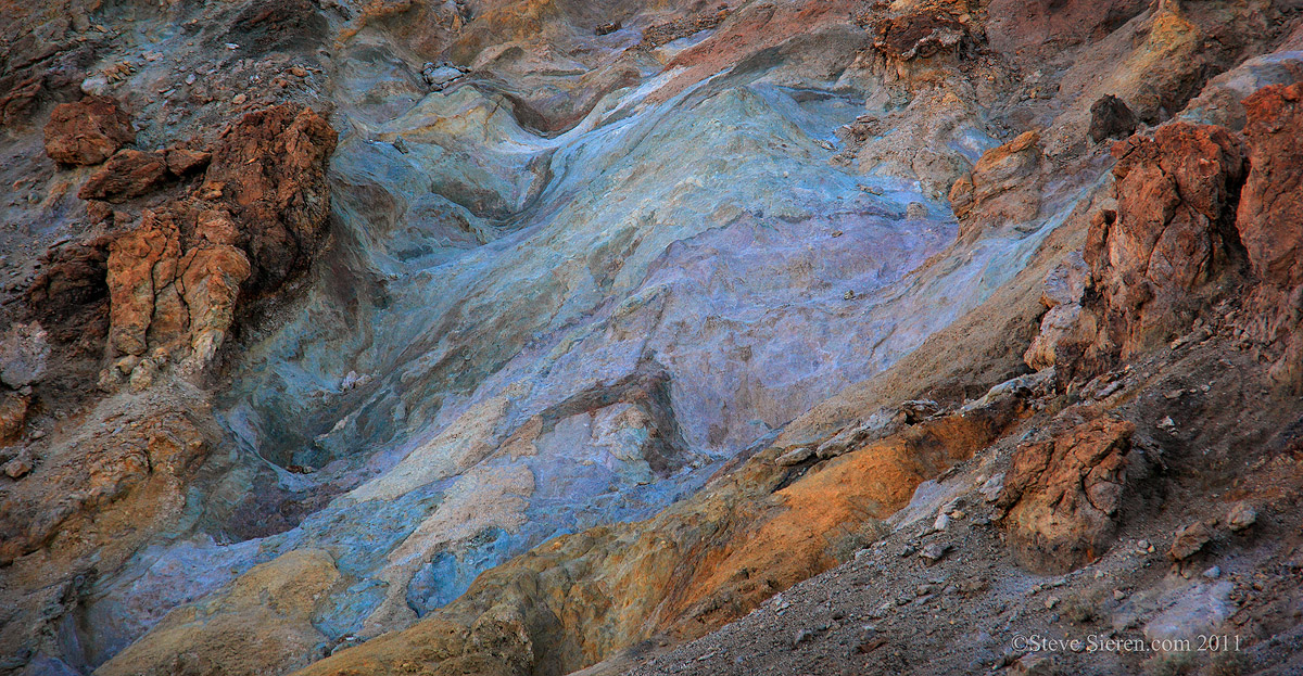 Colorful badlands in the Southern part of Death Valley National Park
