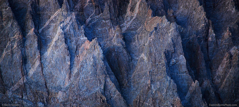 Details of the Palisade Range in the Sierra Nevada
