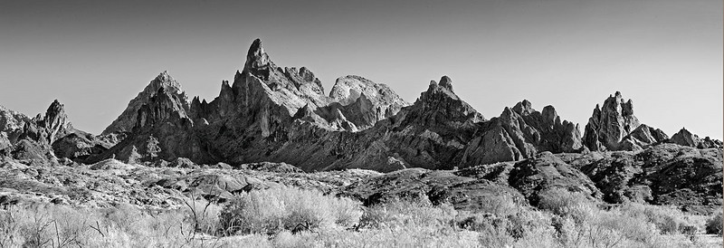 Volcanic Spires in the Mojave Desert Arizona