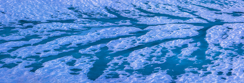 Thawing Tioga Lake Ice Patterns - Eastern Sierra