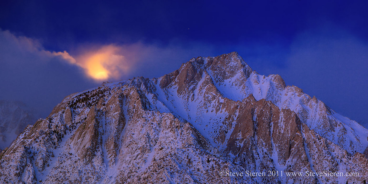 Moon Setting on Lone Pine Peak from the Alabama Hills