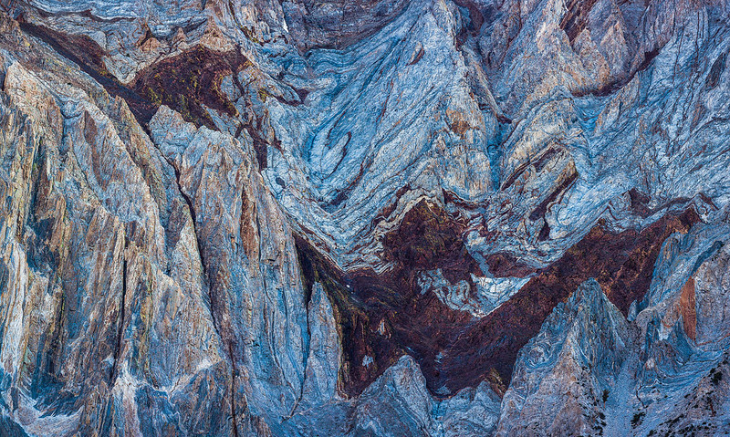 Mountain Abstract Detail - Sierra Nevada Mountains