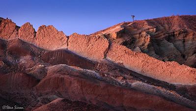 Mojave Spine Badlands of the Mojave Desert in San Bernardino Country