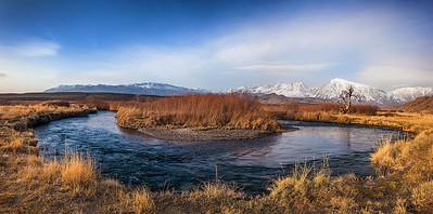 Owens River Bend Panoramic