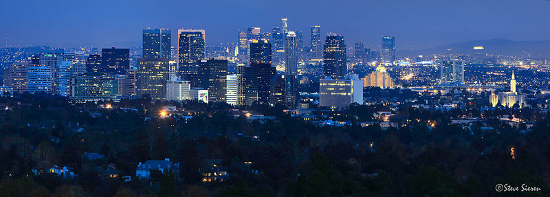 Miracle Mile View <br /> Los Angeles Skyline