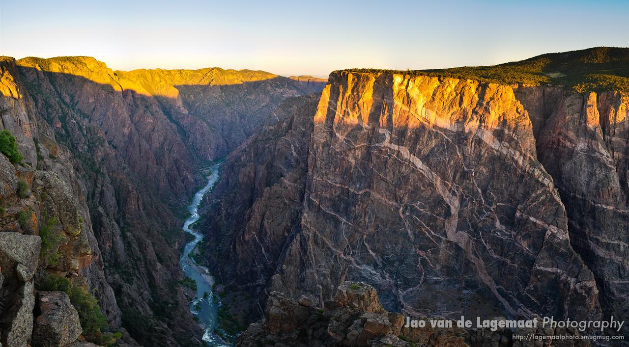 Sunrise on the Black Canyon