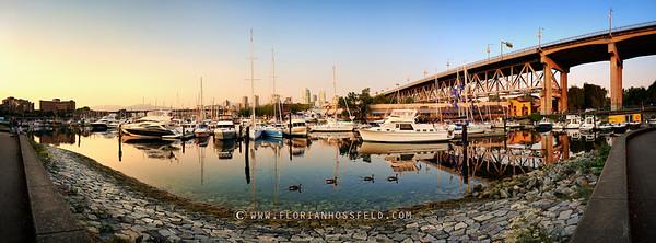 Sunset on Granville Island Harbour