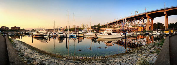 Sunset on Granville Island Harbour