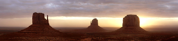 "First Light at Monument Valley from the ""View Hotel"" balcony"