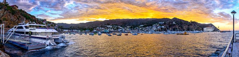 Avalon Harbor at Sunset, Catalina, CA