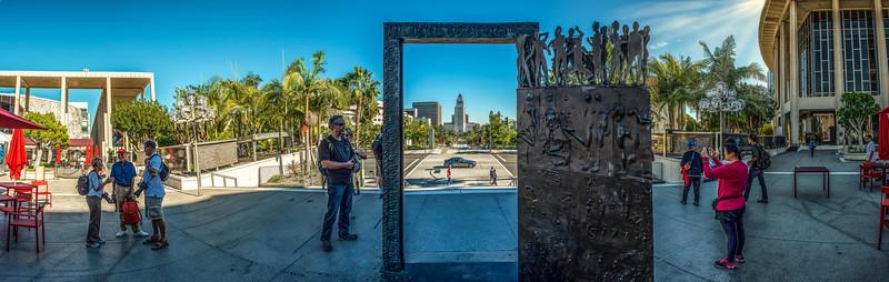 Downtown LA plaza