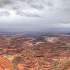 View from the top of Mesa Arch