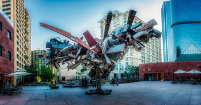 Airplane Art Structure - Downtown L.A.