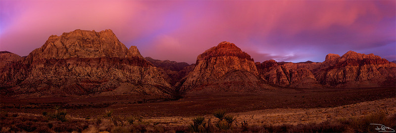 Red Rock After Dark