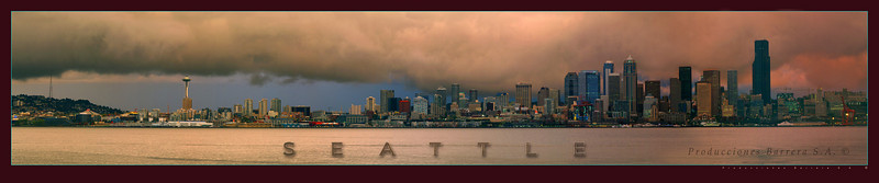 Panorama - Seattle Sky-line - Wa.