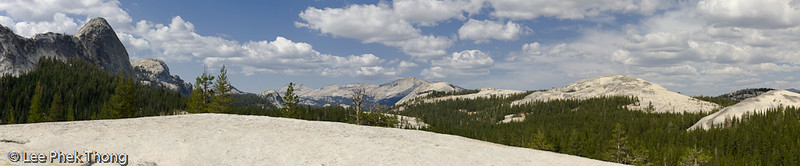 Panoramic view from pothole dome.<br /> Tuolumne Meadows, Yosemit National Park, California, USA.