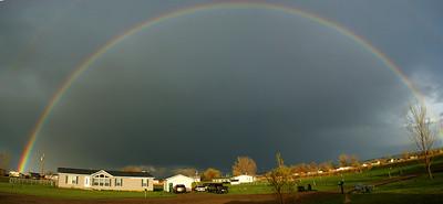 Rainbow over neibor's house