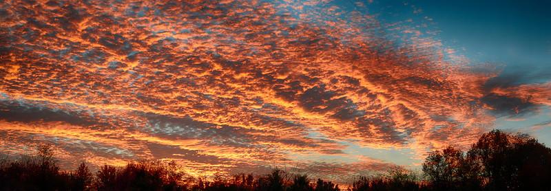 Sunset over Clarksburg, MD