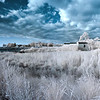 Tilghman Island infrared Panorama, taken with a Nikon D5000IR (720nm) and a Nikkor 18-105 zoom