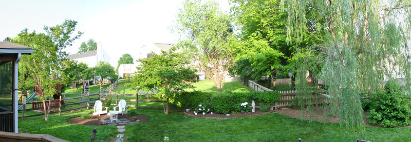 Derby Drive Backyard panorama