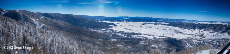 Steamboat Springs CO Yampa River Valley panorama taken with OM-D E-M5 20mm f/1.7 lens