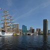 "Baltimore's Inner Harbor from water-side on ""Sail-a-bration"" day celebrating the beginning of the War of 1812"