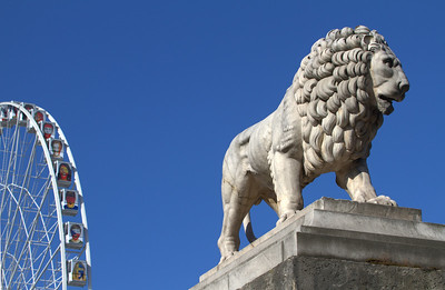 Lion and Wheel