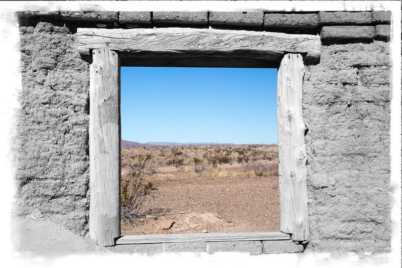 Window to the Desert BW