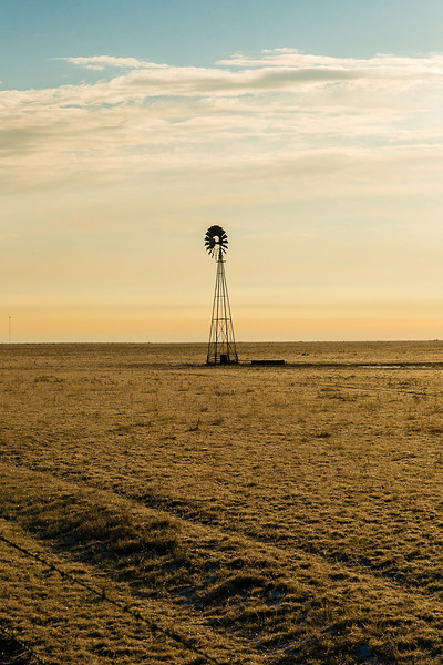 Lone Windmill on the Texas Plains