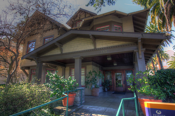 Very nice old house turned office at Fuller Seminary, Pasadena, California.