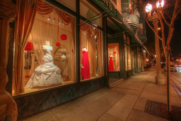 Pasadena bridal shop.