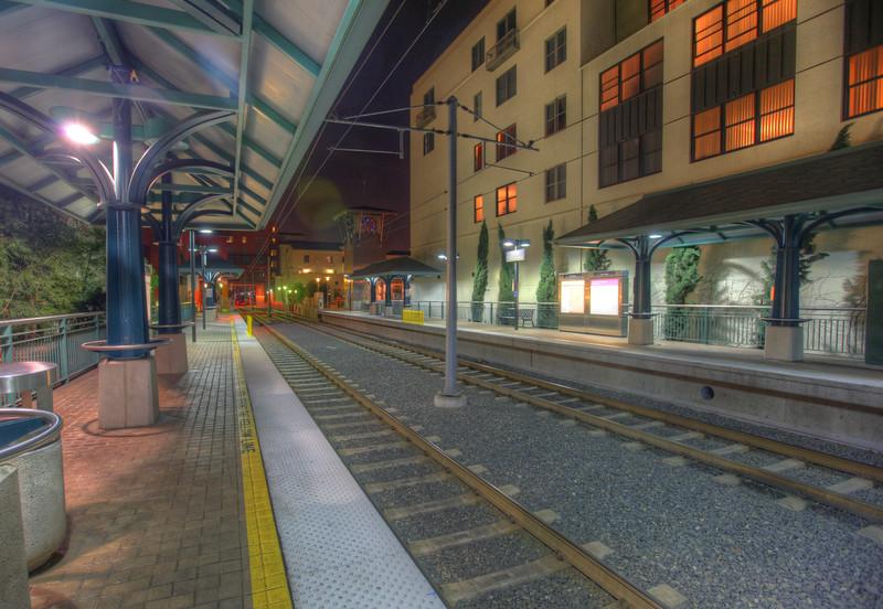 Gold line train station, Pasadena, California.