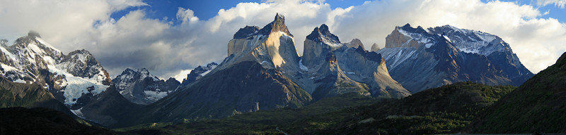 Torres del Paine National Park, Chile. 2009.  View from Hotel Pehoe, early morning.