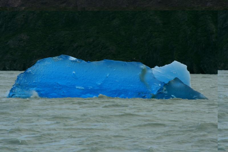 Torres del Paine National Park, Chile. 2009. Blue iceberg in Lago Grey.