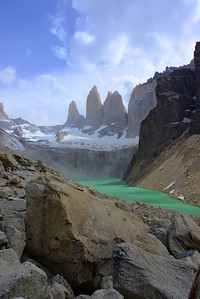 The three towers in Torres del Paine National Park.