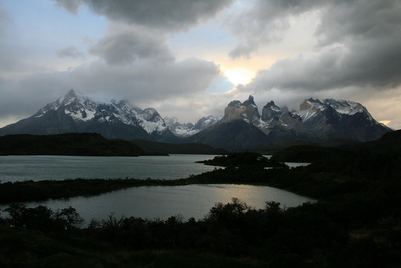 Torres del Paine National Park, Chile. 2009. View from southern entrance to park.