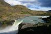 Torres del Paine National Park, Chile. 2009. Falls.