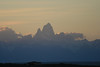 Los Glaciaries National Park, Argentina. 2009.  Mount Fitz Roy at sunset. Our best and only view without clouds.