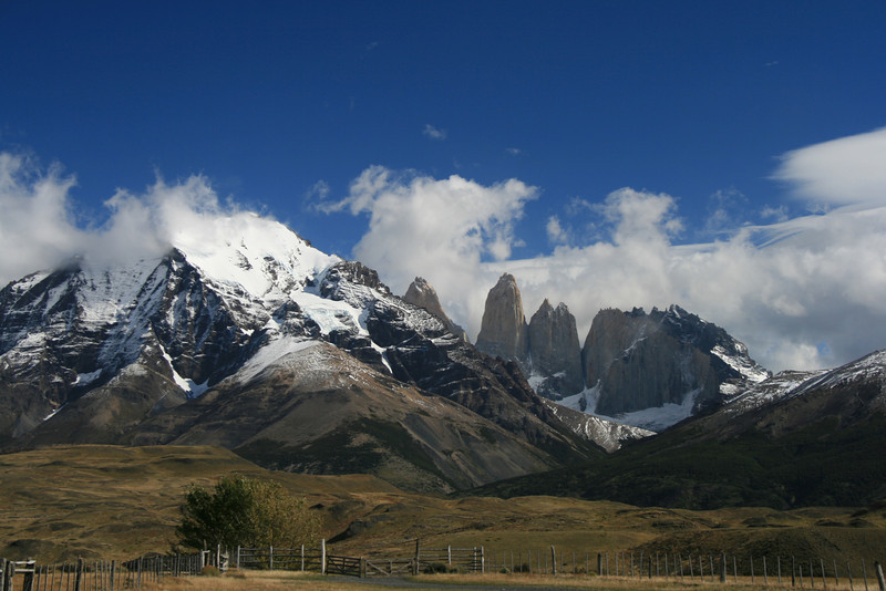 Torres del Paine National Park, Chile. 2009. The Towers.