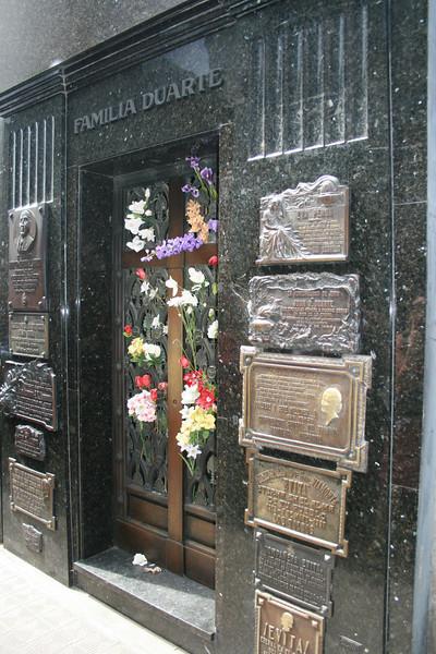 Buenos Aires, Argentina. 2009. Eva Peron tomb.