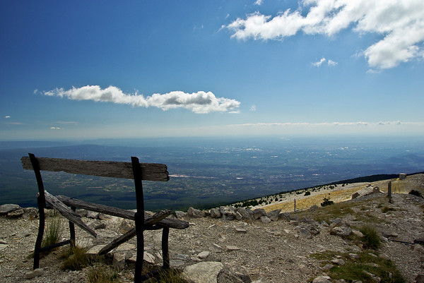 Overlooking the plain of Mount Ventoux, south face (France)
