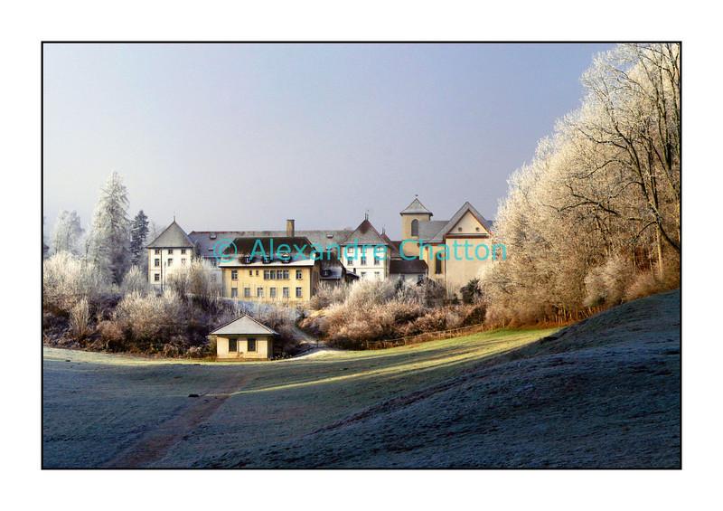 Abbatiale de Bellelay, dans le Jura bernois, décembre 2006.