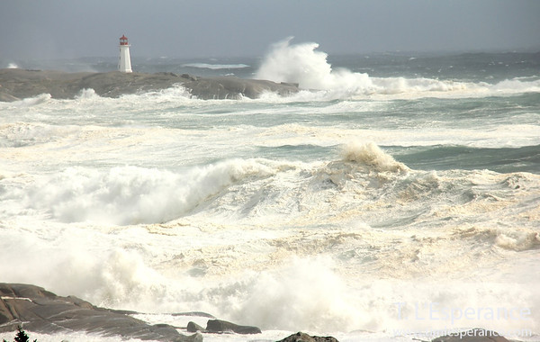 Clearing break in the storm at Peggy's Cove.