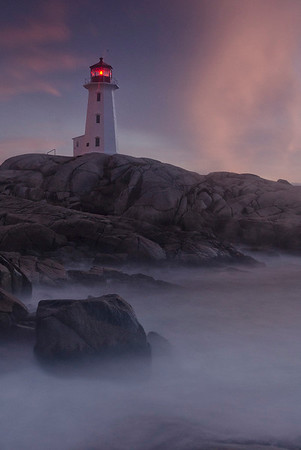 A 25 second exposure of Peggy's Cove Lighthouse (HM Digital Pictorial, N4C Feb 2013)