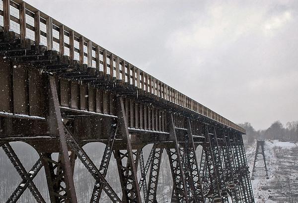 Winter at Kinzua Bridge State Park